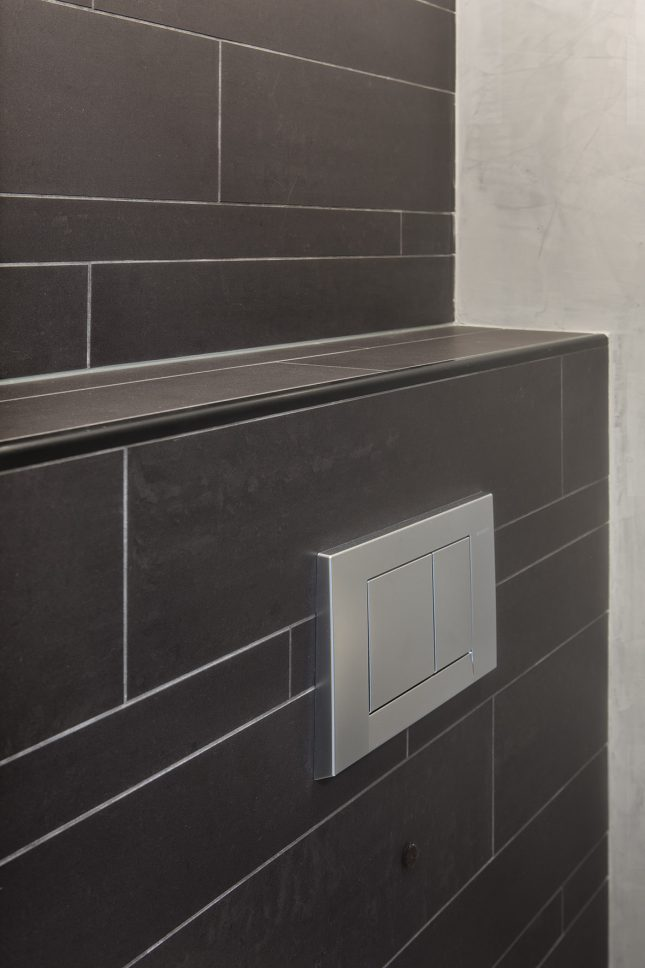 Good stoer toilet combi tegels en tadelakt with kleine wc for App badkamer ontwerpen