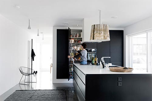 Keuken Grote Open : Gezellige scandinavische leefkeuken interieur inrichting