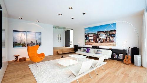 Moderne woonkamer met design