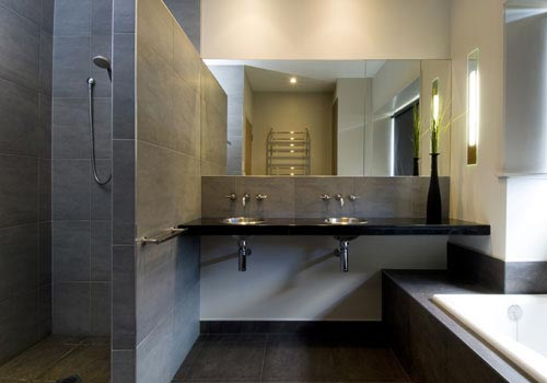 Badkamer met strakke uitstraling