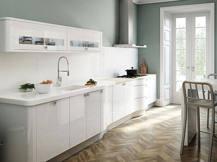 Hoogglans witte keuken