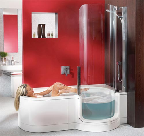 Kosten Badkamer Bouwen ~ Kleine badkamer met bad en douche  Interieur inrichting