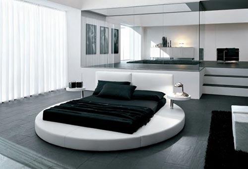 Luxe slaapkamer met rond bedInterieur inrichting | Interieur inrichting