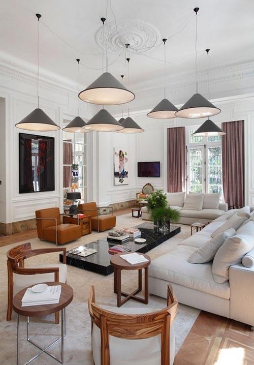 Moderne traditionele woonkamer