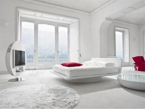 Spierwitte slaapkamer van Bonaldo