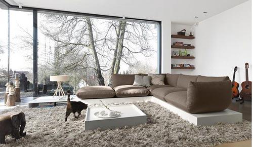 Warme moderne woonkamer