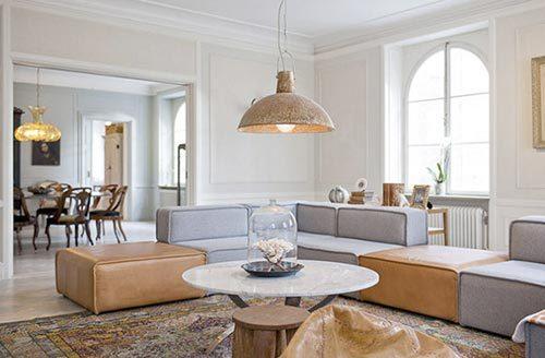 Frisse woonkamer van styliste Jennifer Jansch
