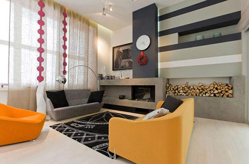 Moderne woonkamer door Za Bor Architects