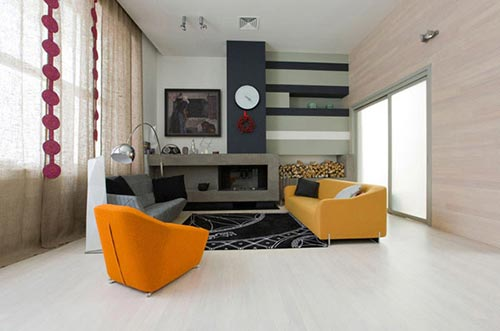 Moderne woonkamer door za bor architects interieur inrichting - Interieur inrichting moderne woonkamer ...