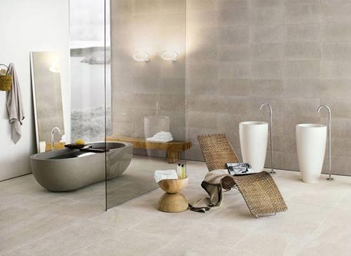 Natuurlijke badkamers van neutrainterieur inrichting interieur inrichting - Badkamer meubilair merk italiaans ...