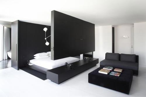 Slaapkamer van Distrito Capital hotel