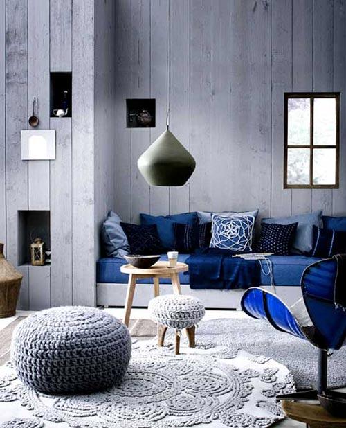 Warme gezellige woonkamer   Interieur inrichting