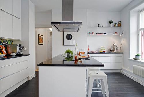Grote keuken in g teborg interieur inrichting - Grote keuken met kookeiland ...