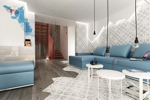 Italiaans Poolse woonkamer