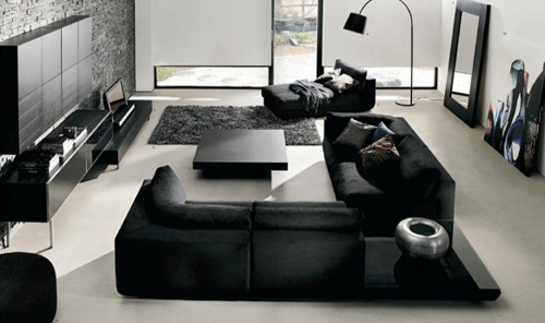 Moderne woonkamer van boconcept interieur inrichting for Moderne woonkamer