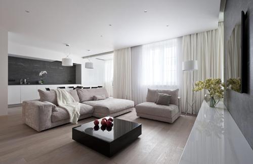 Woonkamer Strak Inrichten. Simple Appartement Ontwerp Hasselt With ...