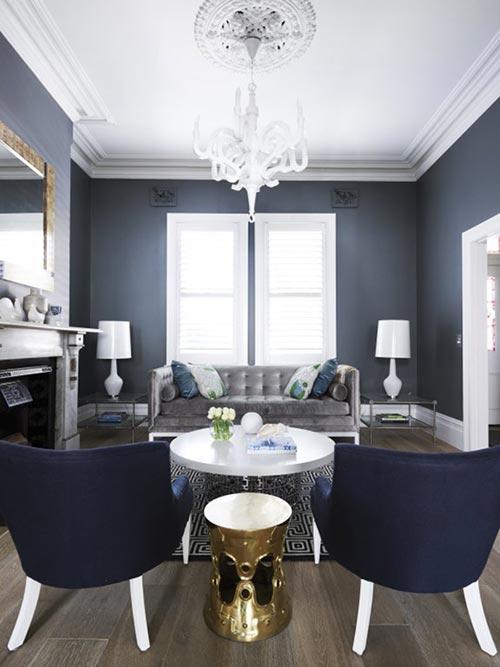 Klassiek interieur gemixt met modern interieur inrichting - Deco gezellige lounge ...
