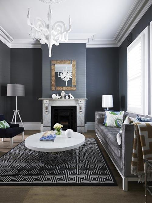 Gray and yellow bathroom color ideas - Klassiek Interieur Gemixt Met Modern Interieur Inrichting