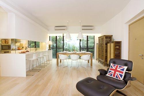 Moderne keuken in hong kong interieur inrichting - Farbiges modernes appartement hong kong ...