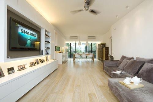 Moderne woonkamer in Hong Kong