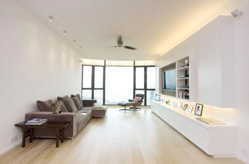 Moderne woonkamer in hong kong interieur inrichting for Apartment design hk