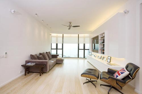 Moderne woonkamer in hong kong interieur inrichting - Interieur inrichting moderne woonkamer ...