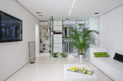 Moderne woonkamer in Moskou