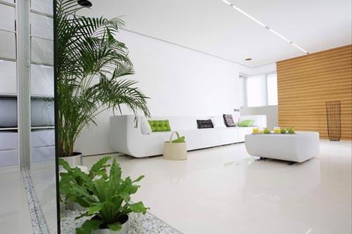 Moderne woonkamer in moskou interieur inrichting - Interieur inrichting moderne woonkamer ...