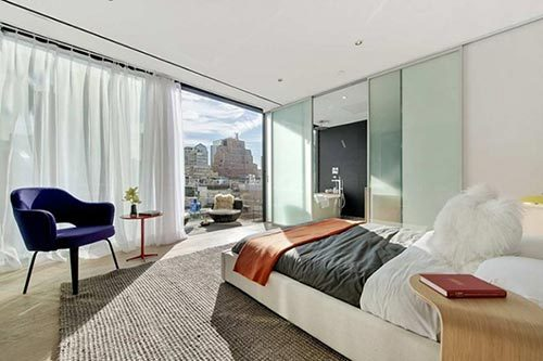 Perfecte slaapkamer in Soho New York