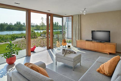 Duurzame woonkamer in IJburg Amsterdam
