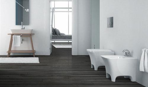 Vloer woonkamer modern houten - Moderne badkamer betegelde vloer ...