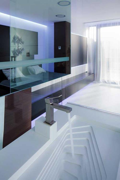 Moderne interieur inrichting uit boekarest interieur inrichting - Penthouse ac du square one studio ...