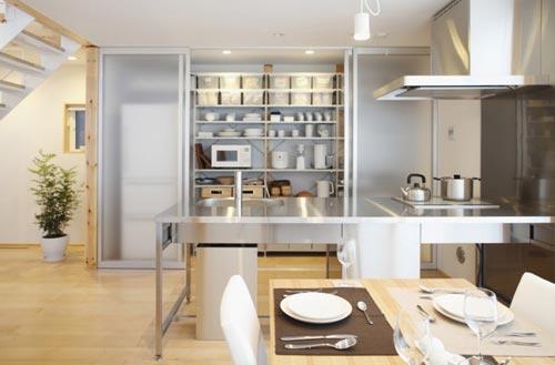 Rvs open keuken interieur inrichting - Open keukeninrichting ...