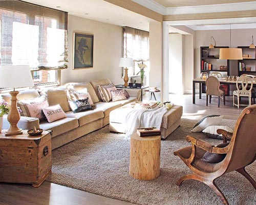 Serene woonkamer in Barcelona