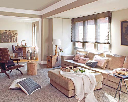 Serene woonkamer in Barcelona | Interieur inrichting