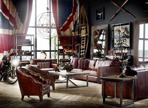 vintage woonkamer met timothy oulton interieur inrichting
