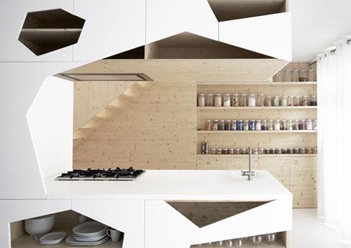 Minimalistische keuken met open karakter interieur inrichting