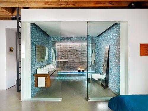 Mooie badkamer loft Vancouver