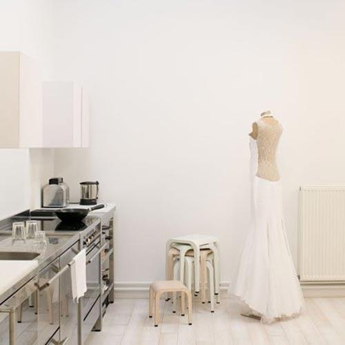 Witte keuken van ontwerpster Johanne