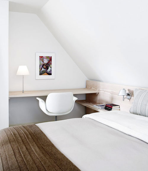 Witte serene slaapkamer van Thomas & Heidi  Interieur inrichting