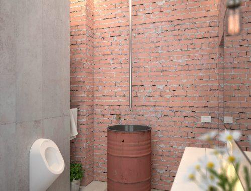 3D ontwerpen van een industrieel toilet