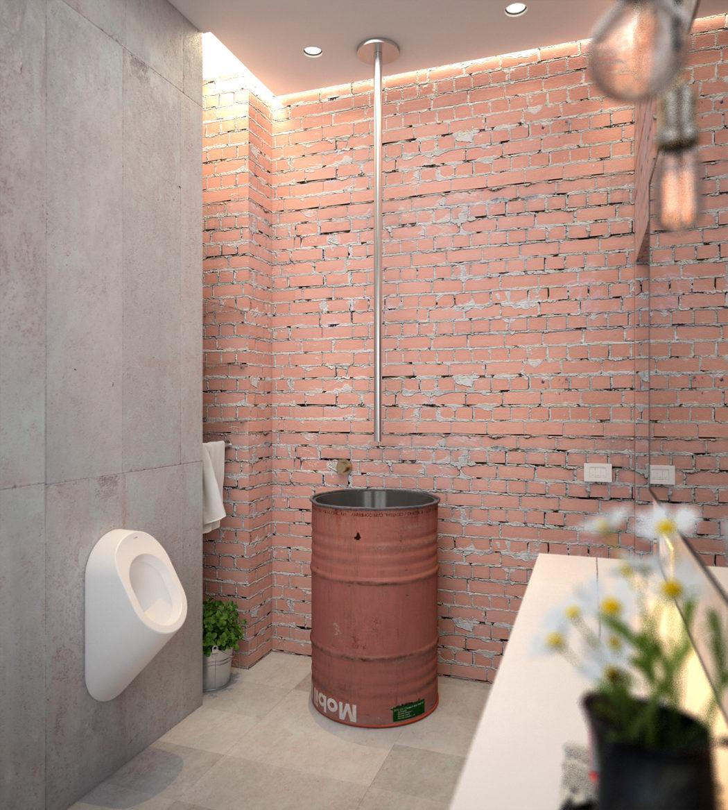3d ontwerpen van een industrieel toilet interieur inrichting for 3d ruimte ontwerpen