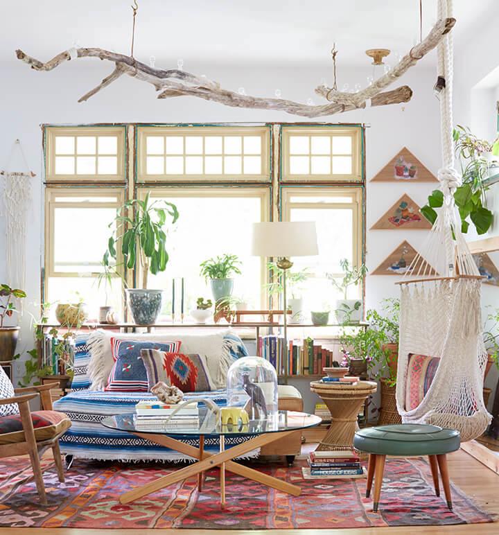 Hangmat in huis : Interieur inrichting