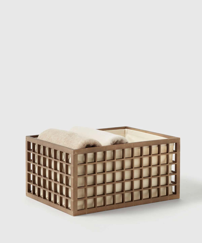 The Container Store x KonMari bamboe opbergbak
