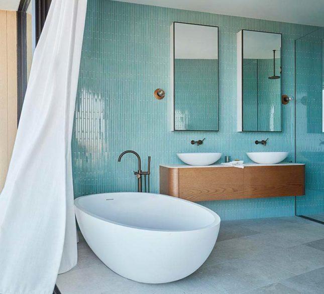 aqua blauw badkamer