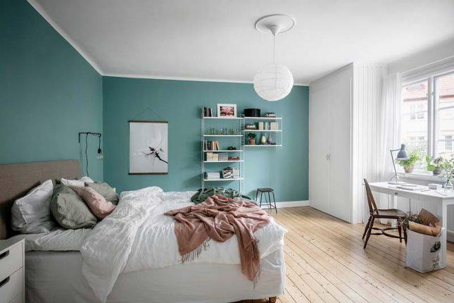aqua blauw interieur