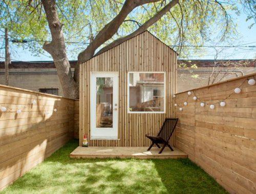 Architect ontwerpt een tuinhuis werkplek!