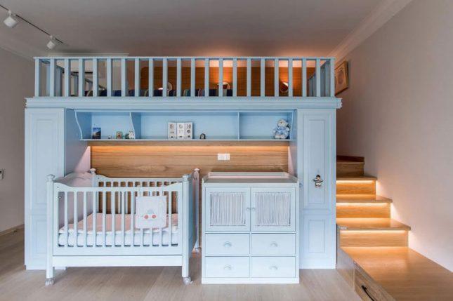 Babykamer in de slaapkamer