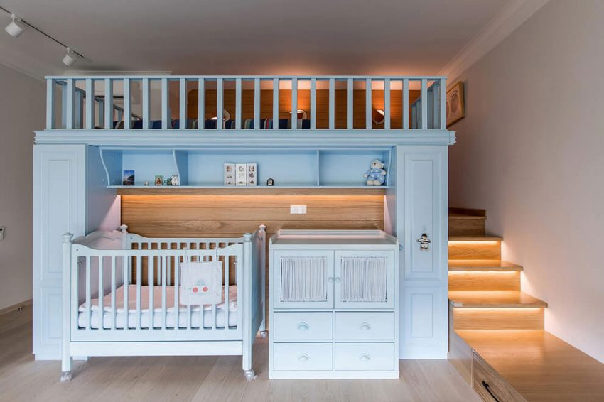 Babykamer in de slaapkamer interieur inrichting - Baby slaapkamer ...