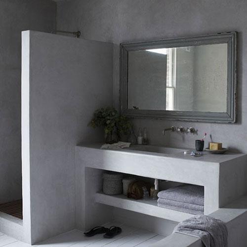 Betonlook badkamer interieur inrichting for Badkamer artikelen